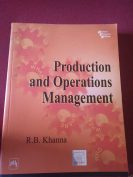 Production and operations management by r.b.khanna