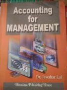 Accounting for management  by Dr jawahar lal