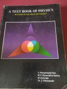 A Text book of Physics by V.Ranganayaki Rao, M.Y.Viswanatha Sastry, M.Gururaja and Dr.J.Vishwanath