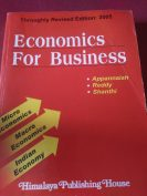 Economics for business by appannaiah,reddy and shanthi