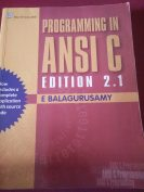 Programming in ANSI C by E Balagurusamu