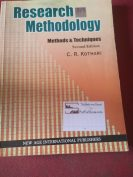 Research methodology by V.R.Kothari
