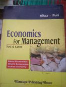 Economic by Management by misra and puri